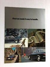 1971 Audi 100 Ls 100Ls Automatic Sedan Original Car Sales Brochure Folder