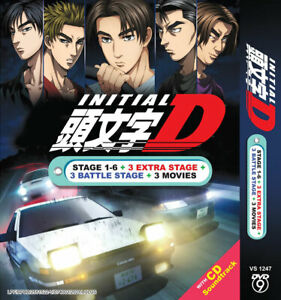 ANIME DVD INITIAL D Stage 1-6 +3 Movie +3 Extra Stage +3 Battle Stage +Free Ship