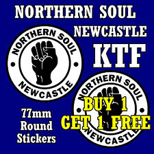 NEWCASTLE - NORTHERN SOUL - CAR / NOVELTY WINDOW STICKER + 1 FREE / NEW / GIFTS