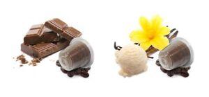 20 Nespresso ® Kapseln Vanille- & Schoko-Kaffee - Kompatible Kapseln Probierset