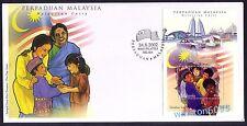 2002 Malaysia Malaysian Unity, Miniature Sheet Stamp MS FDC