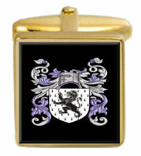 Jones Wales Family Crest Surname Coat Of Arms Gold Cufflinks Engraved Box