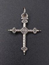 Ancienne croix Jeannette en argent massif Savoie regional