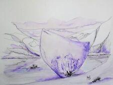 Ungerahmt Zeichnungen mit Tusche-Technik