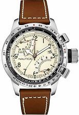 NAUTICA MEN'S CHRONO, TACH, FLYBACK  WATCH, NEW IN BOX, MODEL NAD24504G