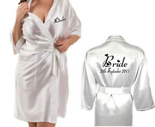 Nuovo Personalizzato Bianco Sposa Vestaglia in Raso / Abito da Damigella Madre