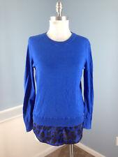 Michael Kors Blue Combo Sweater Top XS Tunic career casual