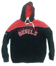NHL Reebok Men's CCM Fashion Fleece Sweatshirt Black New Jersey Devils L #A34