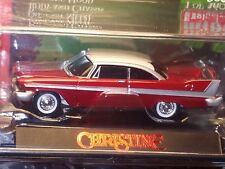AUTO WORLD 1958 58 PLYMOUTH FURY CHRISTINE -Red Over Chrome, MIP 1/3600