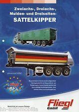 Prospekt Fliegl Sattelkipper Anhänger 2007 brochure tipper semi trailers trailer