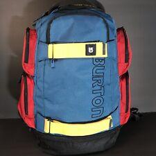 Burton Snowboarding Hiking Blue Yelow Red Backpack School Bag  rn 87380 ca 26902