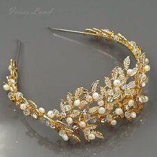 Crystal Freshwater Pearl Headband Headpiece Tiara Bridal Wedding Accessory 934 G