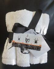 Halloween Kassa Fina Black Widow Spider Skull Wash Towels Set of  6 BRAND NEW!!!
