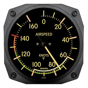"""Trintec 6"""" Vintage Airspeed Instrument Style Thermometer 9061V Great Pilots Gift"""