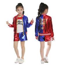 Classic Harley Quinn Kids Girls Sucide Squad Joker Fancy Dress Costume 5-10yrs