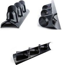 2'' 52MM Car Carbon Fiber Look Pillar 3 Hole Triple Gauge Meter Mount Holder Pod