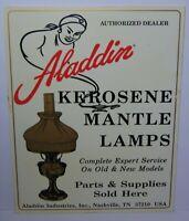 """14"""" Vintage 1980s Aladdin Kerosene Lamp Lamps Authorized Dealer ADVERTISING SIGN"""