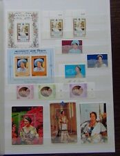 1980 Queen Mother sets Antigua Bangladesh Tristan Cayman Nevis St Kitts MNH
