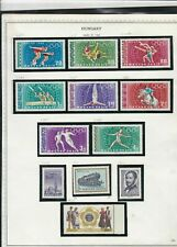 hungary issues of 1968 olympics & horses etc stamps page ref 18311
