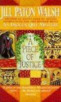 Very Good, A Piece of Justice, Paton Walsh, Jill, Book