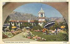 Linen Postcard; El Mirador Hotel Palm Springs CA Stephen Willard Unposted