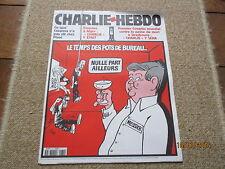 JOURNAL BD CHARLIE HEBDO 470 temps pots bureau messier canal + cabu 2001