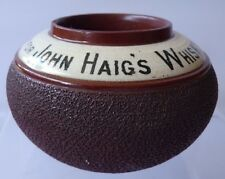 Vintage Ask For John Haig's Whisky  Bar Advertising Match Striker Ash Tray