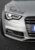 Sports Mind Decal Vinyl Car Stickers Headlight sticker for AUDI 350mm UK MADE