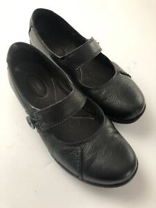 Clarks Bendables Black Leather Mary Jane Style Womens Shoes Size 6.5