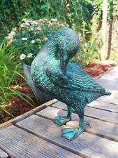 Bronze garden sculpture of a duck - Bronze garden decor - Bronze animals