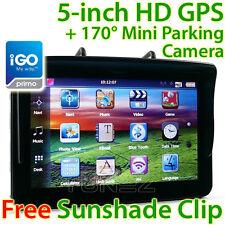 """5"""" GPS Car Navigation System Sat Nav Reversing Camera Navigator Tunez iGO Primo"""