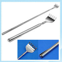 1 x back scratcher pen massage stainless steel metal telescopic comb brush gift
