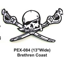 """BRETHREN COAST Embroidered Military Extra Large Patch (13""""WIDE)"""