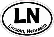 3x2 Oval LN Lincoln Nebraska Sticker Luggage Car Window Bumper Cup Stickers