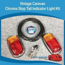 """Caravan StopTail  Light KIT  """" Chrome """"  Vintage  12V Trailer Kit Viscount"""