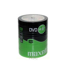 Maxell DVD+R 100 Pack Shrink Pack 16x 4.7GB Blank DVDs Media Disks
