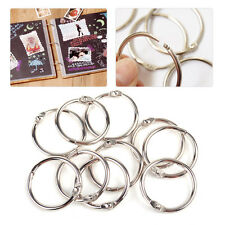 10x Metal Notebook Loose Leaf Binder Binder Ring Snap Album Split Hinged Keyring