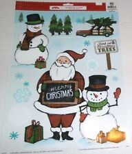 Christmas Window Clings MERRY CHRISTMAS/FRESH CUT CHRISTMAS  TREES
