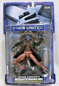 Marvel X2 X-Men United Super Poseable NightCrawler Action Figure ToyBiz 2003 NIB