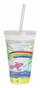 Thermo-Temp Photo Tumbler with Straw, 16 Ounces ~ Free Shipping ~