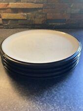 More details for four denby dinner plates 27cm matt black
