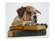 Goopticians Glasses Cleaning Microfiber Cloth English Bulldog Spectacle Lens Microfibre Cleaner 15cm X 18cm