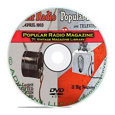 Popular Radio, 71 Classic Old Time Radio OTR Magazine Collection PDF CD DVD B77