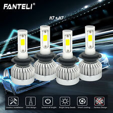 H7 H7 Combo CREE 3310W 496500LM LED Headlight Sets High Low Beam HID 6000K Bulbs