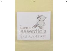 IZZIWOTNOT BEAR ESSENTIALS LEMON FLEECE BABY  BLANKET