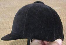 Swaine Adeney Briggs Black Horse Show Riding Helmet Made in England 6 3/4 (55)