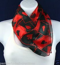 Card Suits Womens Scarf Game Playing Bridge Poker Casino Scarfs Gift Scarves New