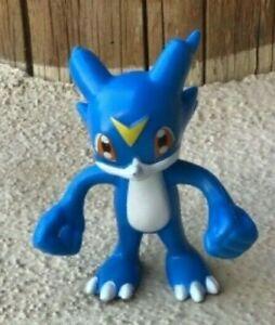 """Veemon Flexible Bendable Digimon 3"""" Figure - Hardees 2002"""