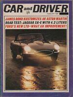 CAR & DRIVER 1965 James Bond Aston Martin Jaguar XK-E Ford LTD X3.182