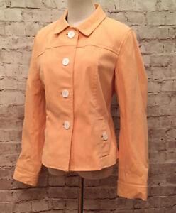 Talbots Peach Blazer Jacket Grace Fit Flatteringly Classic Size 12 NEW